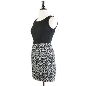 Mystree | Aztec Print Duo Dress